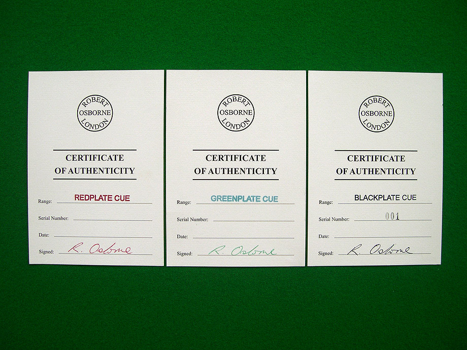 Certificate of authenticity samples